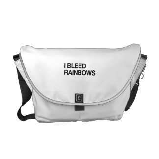 I BLEED RAINBOWS.png Courier Bag