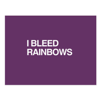 I BLEED RAINBOWS POST CARDS