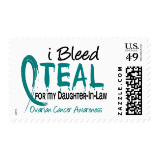 I Bleed Teal For My Daughter-In-Law Ovarian Cancer Stamps