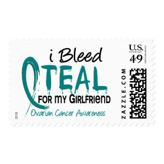 I Bleed Teal For My Girlfriend Ovarian Cancer Postage