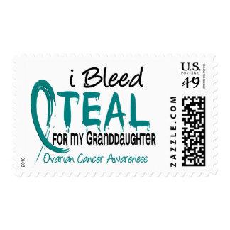 I Bleed Teal For My Granddaughter Ovarian Cancer Postage Stamp