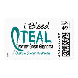 I Bleed Teal For My Great Grandma Ovarian Cancer Stamp