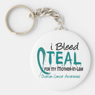 I Bleed Teal For My Mother-In-Law Ovarian Cancer Key Chain
