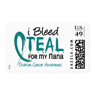 I Bleed Teal For My Nana Ovarian Cancer Stamp