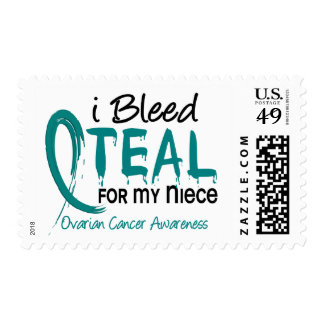 I Bleed Teal For My Niece Ovarian Cancer Postage Stamp