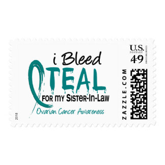 I Bleed Teal For My Sister-In-Law Ovarian Cancer Postage