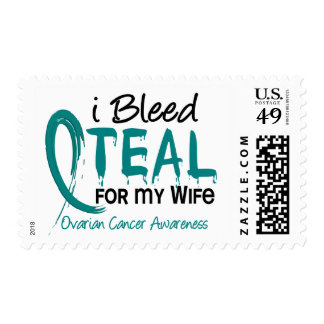 I Bleed Teal For My Wife Ovarian Cancer Postage Stamps