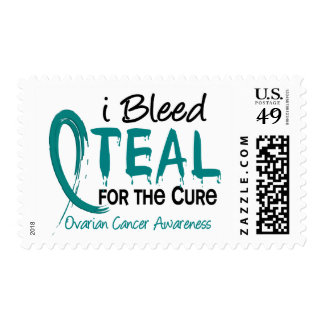 I Bleed Teal For The Cure Ovarian Cancer Stamps