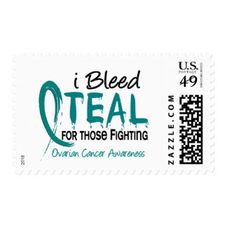 I Bleed Teal For Those Fighting Ovarian Cancer Postage Stamps