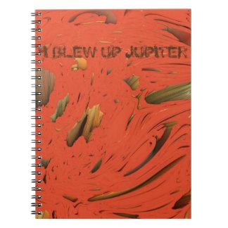 I BLEW UP JUPITER MANDELBULB 3D IMG SPIRAL NOTEBOOK