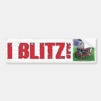 I Blitz! Helmet Bumpersticker Bumper Stickers