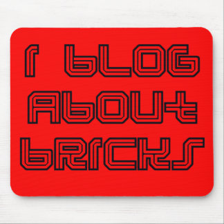 """""""I Blog about Bricks"""" by Customize My Minifig Mouse Pad"""