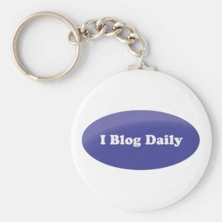 I blog daily basic round button keychain