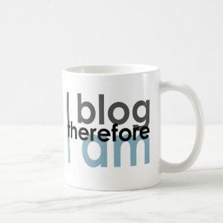 I blog therefore I am Coffee Mugs