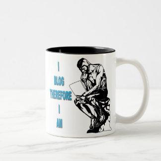 I Blog Therefore I Am Mug