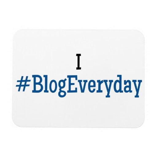 I #BlogEveryday Flexi-Magnet Rectangular Photo Magnet