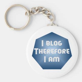 I Blogger Basic Round Button Keychain