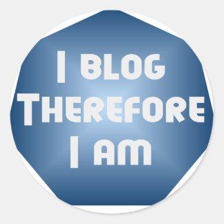 I Blogger Classic Round Sticker