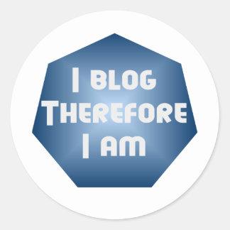 I Blogger Pegatina Redonda