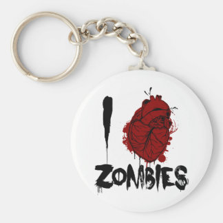 i bloody heart zombies basic round button keychain