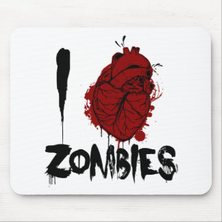 i bloody heart zombies mouse pad
