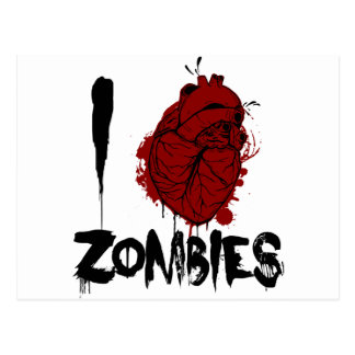 i bloody heart zombies post cards