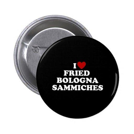 I Bolonia frita corazón Sammiches Pin Redondo 5 Cm