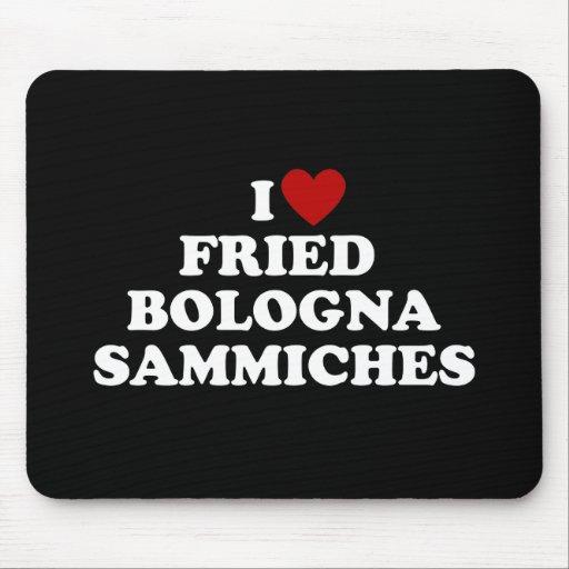 I Bolonia frita corazón Sammiches Tapete De Ratón