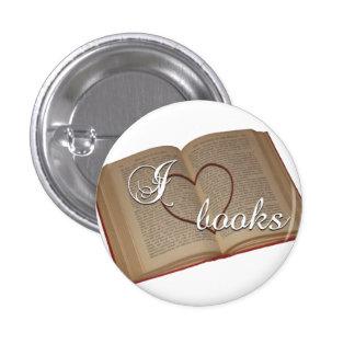 """""""I ♡ Books"""" Button"""