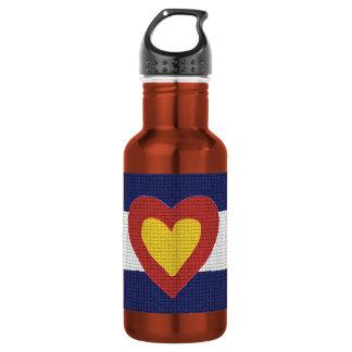 I botella reutilizable de Colorado del corazón