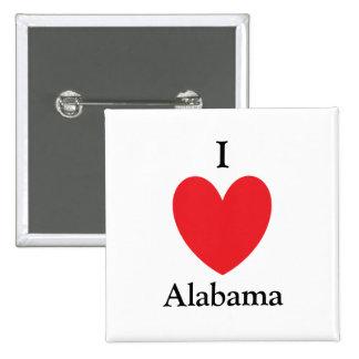 I botón de Alabama del corazón Pins