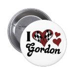 I botón de Gordon del corazón Pin