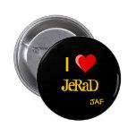 I botón de Jerad del corazón Pins