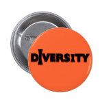 I botón de la diversidad pin