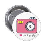 I botón de la fotografía del corazón pin