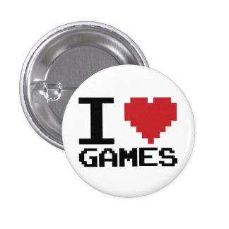 I botón de los juegos del corazón pins