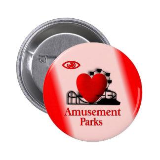 I botón de los parques de atracciones del corazón pin