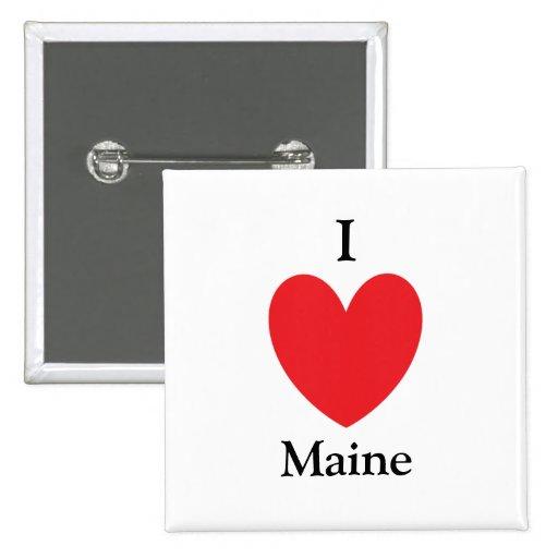 I botón de Maine del corazón Pins