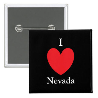 I botón de Nevada del corazón Pin Cuadrado