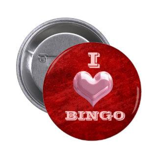 I botón del bingo del corazón pin