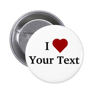 I botón del corazón (personalice)