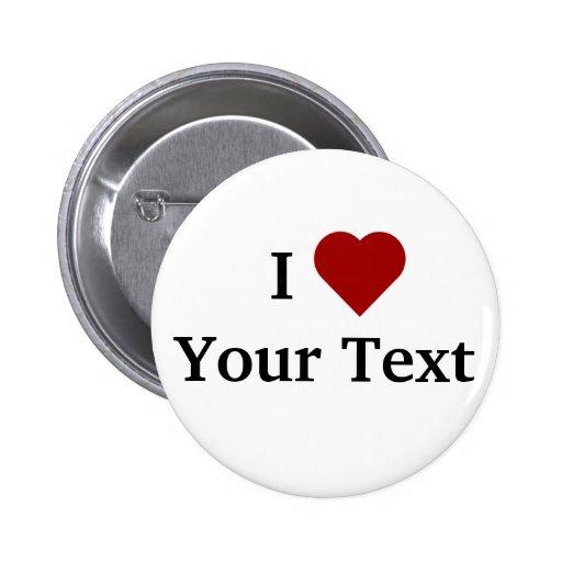 I botón del corazón (personalice) pins