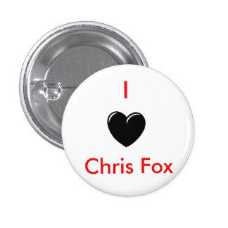 I botón del Fox de Chris del corazón [blanco; Esti