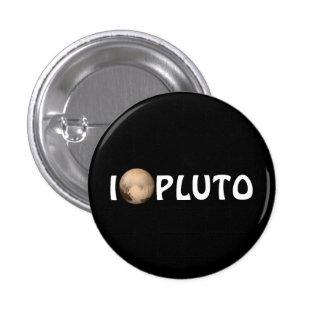 I botón del horizonte de Plutón del corazón nuevo Pin Redondo De 1 Pulgada