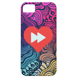 I botones delanteros rápidos del corazón iPhone 5 carcasa