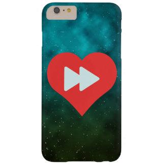 I botones delanteros rápidos del corazón funda de iPhone 6 plus barely there