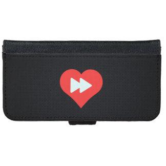 I botones delanteros rápidos del corazón funda cartera para iPhone 6