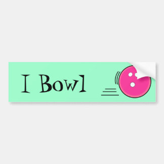 I Bowl Hot Pink Bumper Sticker