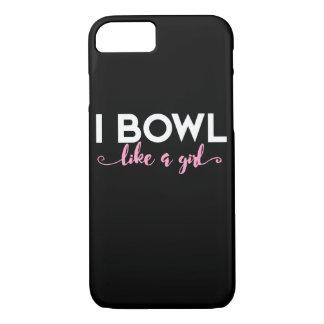 I bowl like a girl iPhone 8/7 case