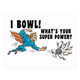 I Bowl What's Your Super Power Postcard